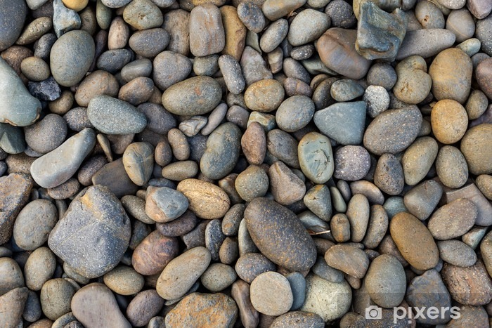 Rocky beach background, stones pattern background Vinyl Wall Mural - Graphic Resources
