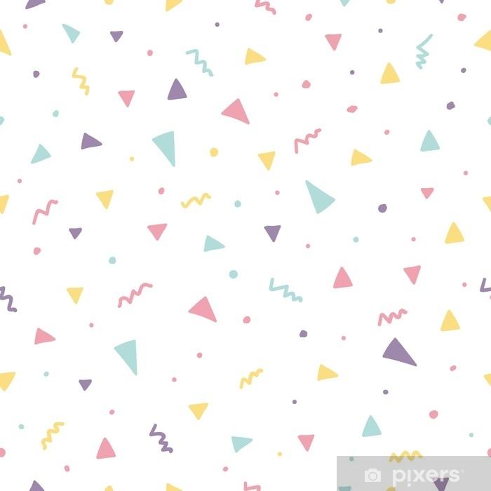 fb2c2f278af Memphis sømløse mønster design med trekant konfetti Vinyl fototapet