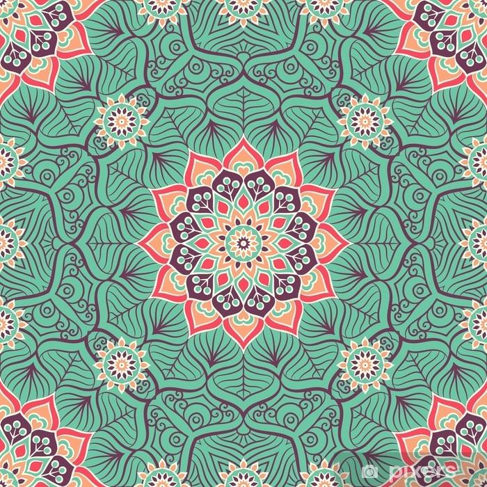 Poster Ethnic floral seamless pattern - Risorse Grafiche