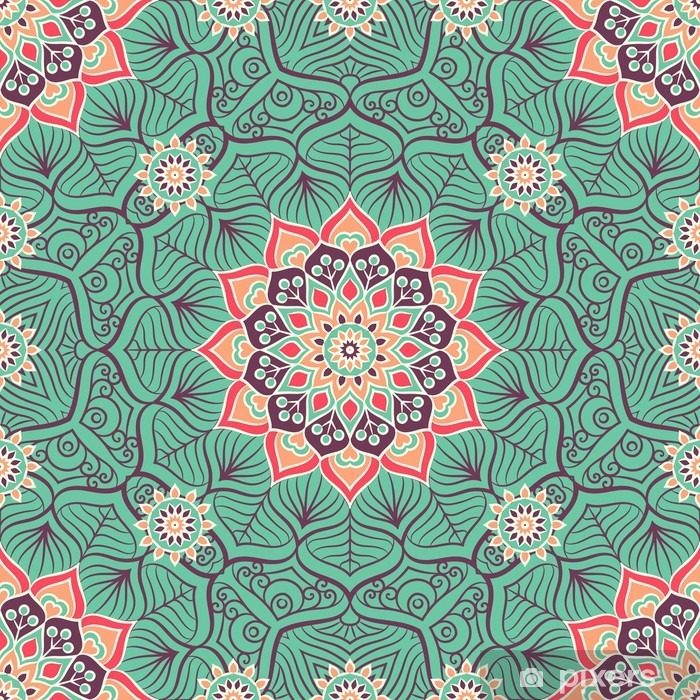 Poster Ethnic seamless floral - Ressources graphiques
