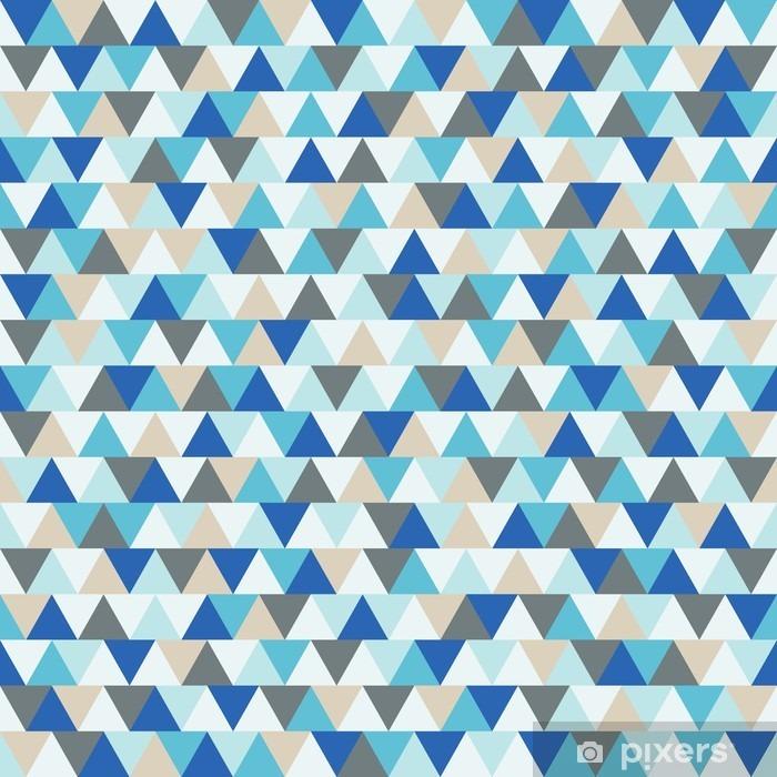 Fotomural Autoadhesivo Resumen triangulo vector fondo, azul y gris modelo geométrico de las vacaciones de invierno - Recursos gráficos