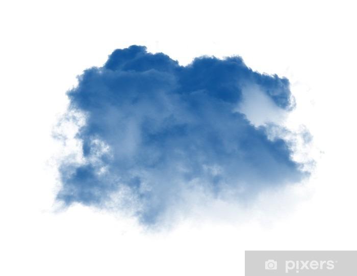 Vinyl Fotobehang Wolken of blauwe rook op witte achtergrond - Landschappen