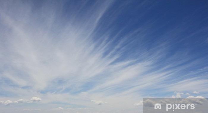 Blå himmel med sky til baggrund Vinyl fototapet - Grafiske Ressourcer