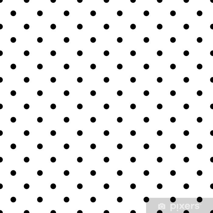 Papier peint Vecteur de modèle sans couture petit pois noir