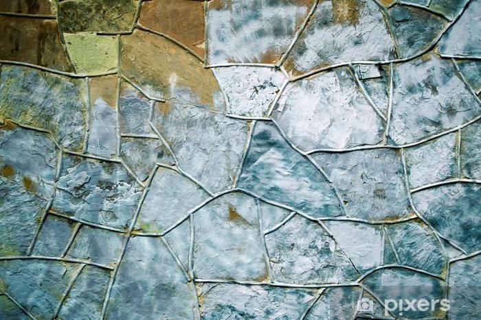 Pixerstick Dekor Gammal sten murad vägg konsistens bakgrund med oregelbundet mönster - Grafiska resurser
