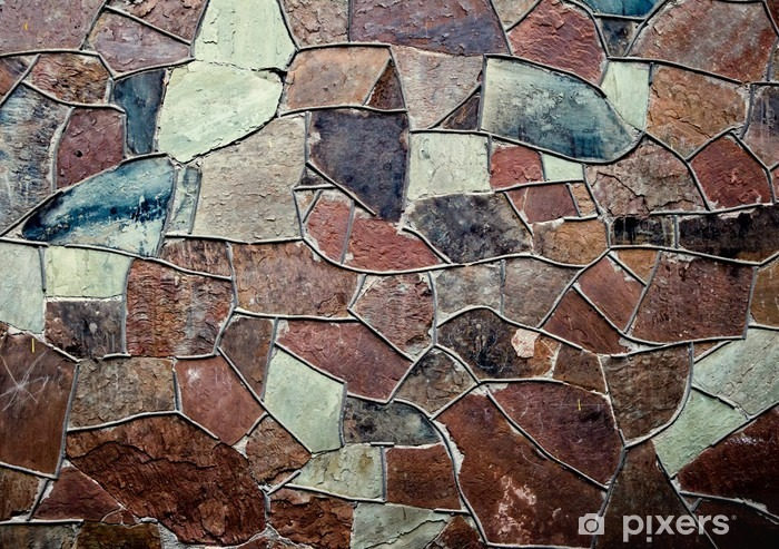 Old stone masonry wall texture background with irregular pattern Vinyl Wall Mural - Graphic Resources