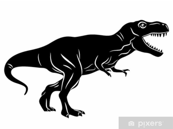 Papier Peint Silhouette D Un Tyrannosaure Dessin Vectoriel
