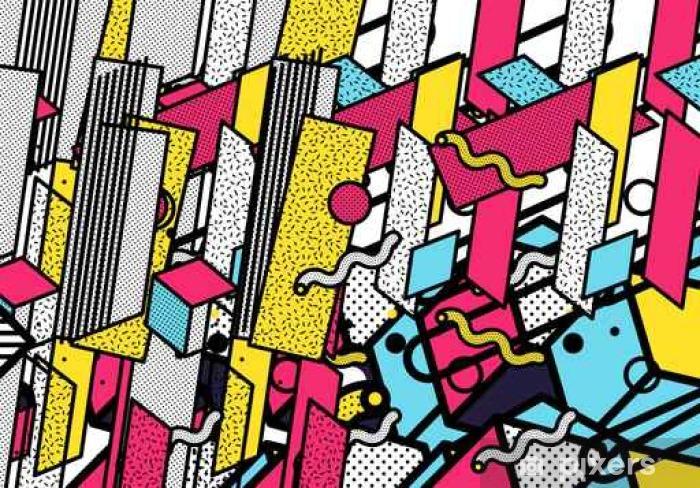 Fototapete Glitched Horizontale Streifen Bunte Lichter Der Stadt Digitale Signalfehler Abstrakt Hintergrund Für Ein Plakat Abdeckung Eine