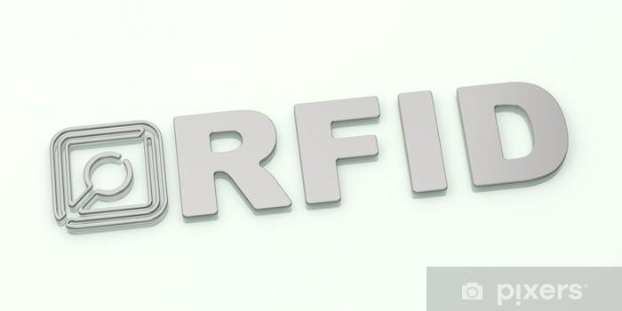 Fototapeta winylowa RFID - Silver Logo - Internet i sieci