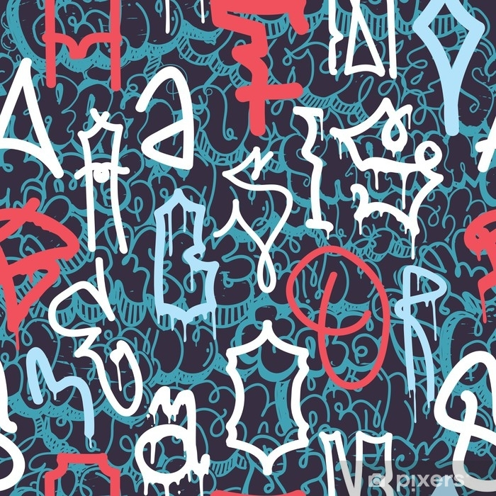 Papier peint vinyle Motif abstrait de graffiti - Ressources graphiques