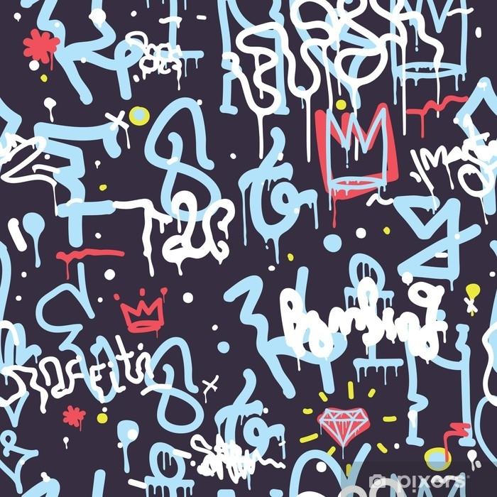 Naklejka na szybę i okno Kolor graffiti bez szwu - Zasoby graficzne