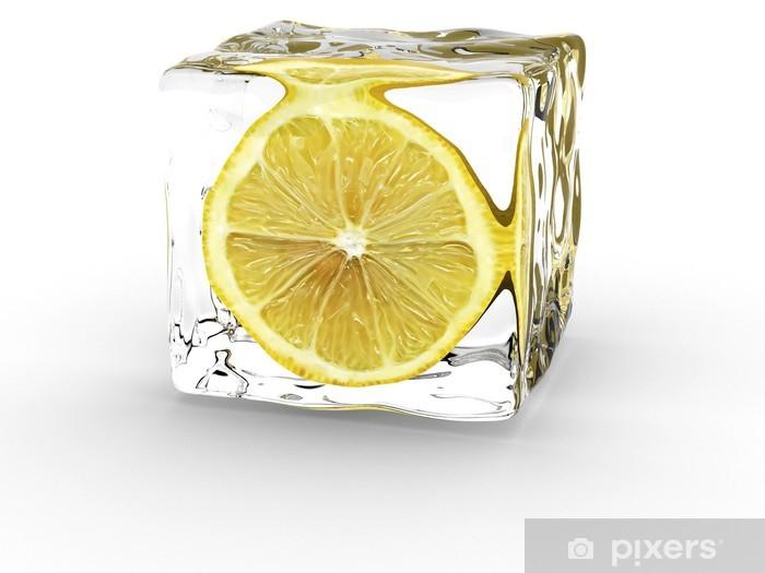 Fotomural Estándar Limón en cubo de hielo - Destinos