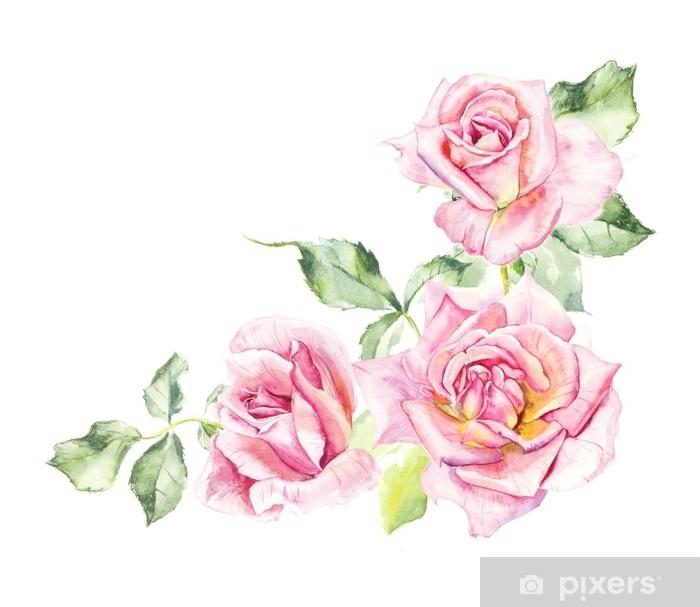 Papier Peint Rosier Motif De Rose Rose Dessins De Mariage