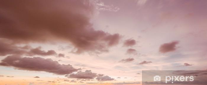 Sky og skyer aften Vinyl fototapet - Landskaber