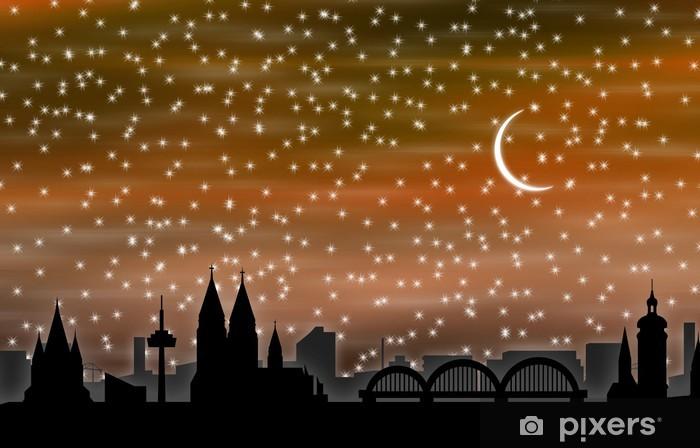 Nálepka Pixerstick Köln bei Nacht 01 - Zábava