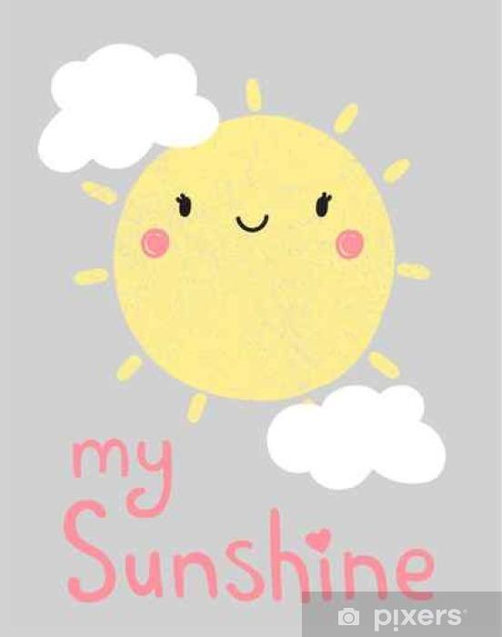Fototapeta winylowa Grafika cute cartoon słońce, wektor, ilustracja - Zasoby graficzne