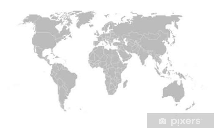 Fotomural Estándar Map of the world - Ciencia