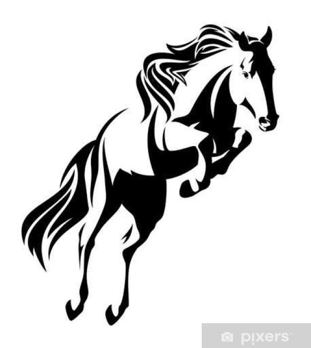 Carta da Parati Salto cavallo disegno