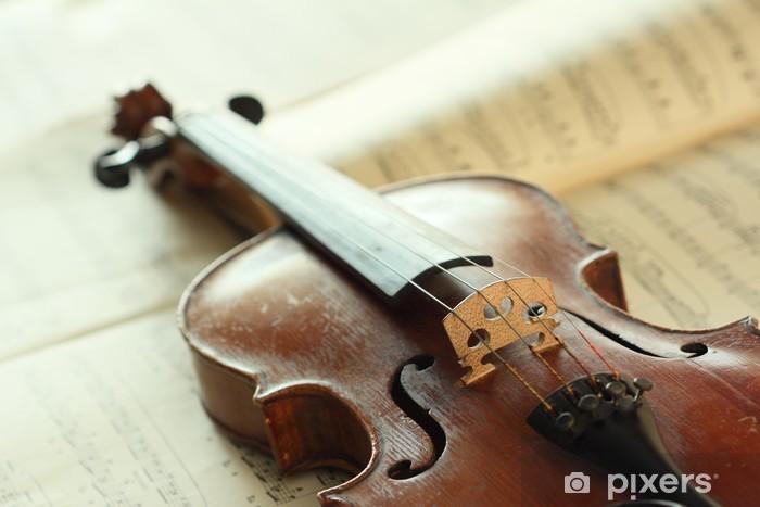 Fototapeta winylowa Antyczne skrzypce - Muzyka