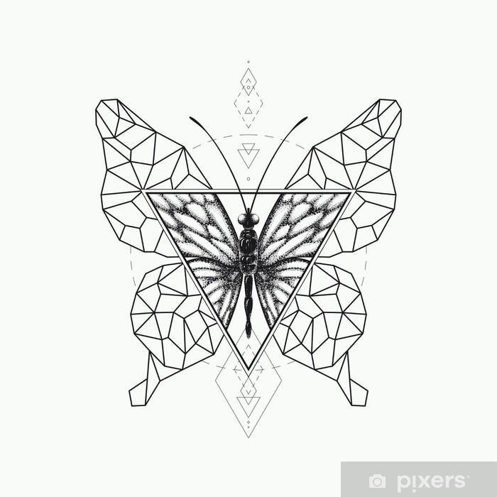 Papier peint vinyle Vector papillon conception graphique. - Animaux