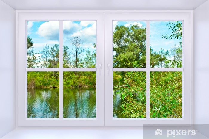 Window to nature Vinyl Wall Mural - Themes