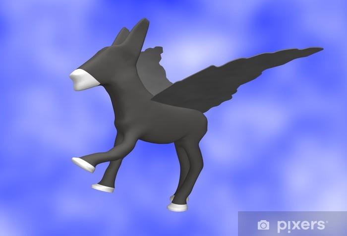 Vinyl-Fototapete Esel in der Luft - Säugetiere