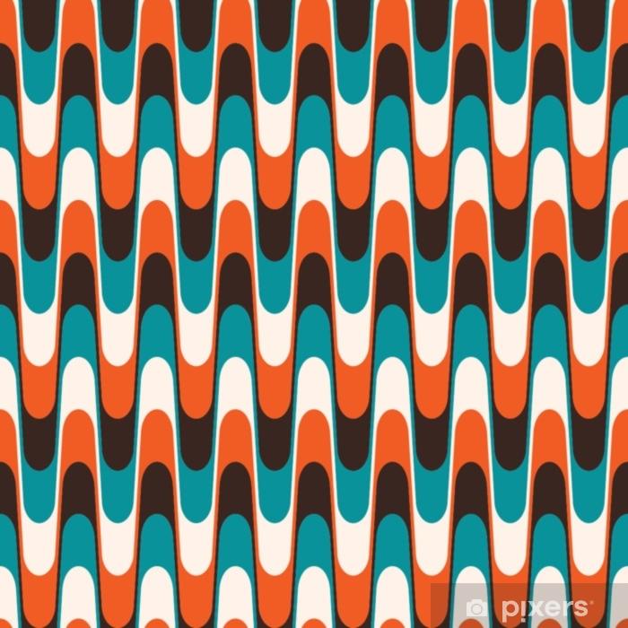 Sømløs vintage bølget mønster i midten af århundredes stil. Vinyl fototapet - Grafiske Ressourcer