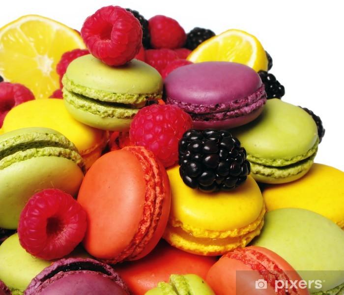 Naklejka Pixerstick Macarons i framboises et Mures - Tematy