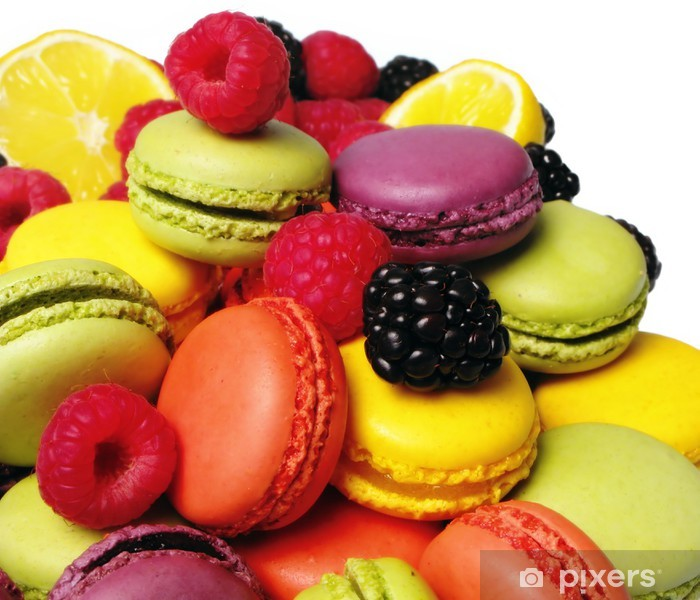 Vinilo Pixerstick Macarons, framboises et Mures - Temas