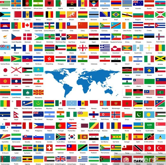 Flags from all over the world Poster - Signs and Symbols