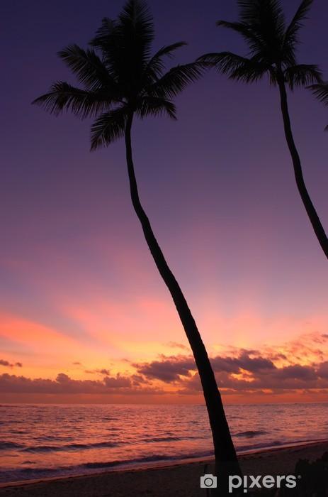 Papier peint vinyle Caribbean sunset. - Vacances
