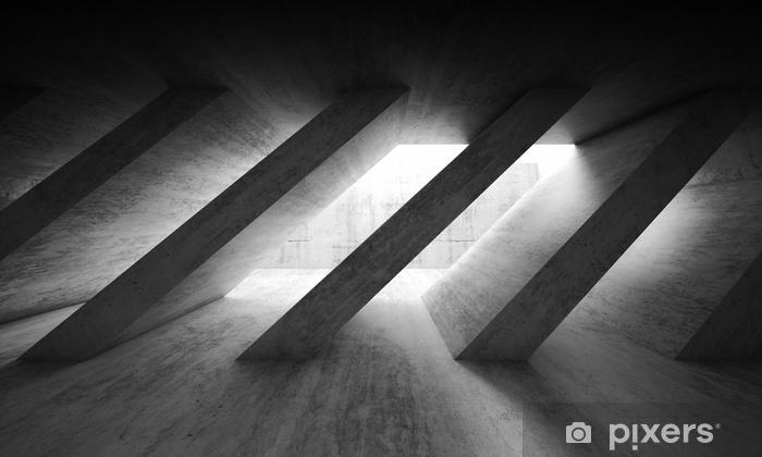 3 d dark concrete interior with diagonal columns Vinyl Wall Mural - Graphic Resources