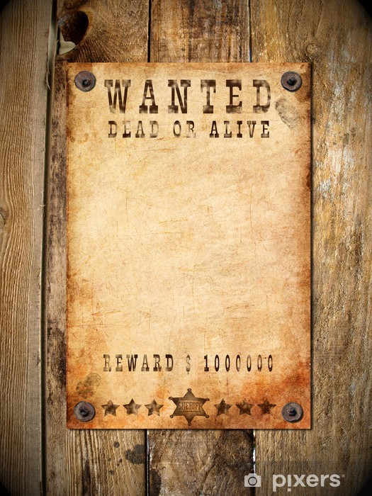vintage wanted poster Vinyl Wall Mural - Styles