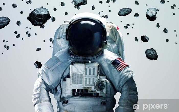 Mural de Parede Autoadesivo Astronauta no espaço exterior, arte minimalista moderna. elementos desta imagem fornecidos pela nasa - Tecnologia