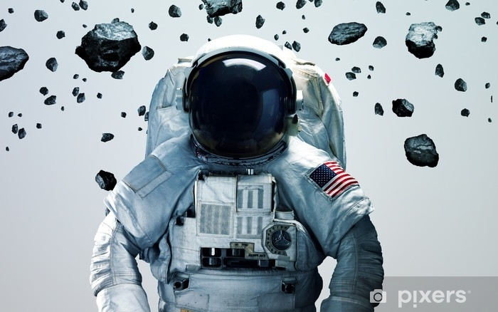 Astronaut in outer space Self-Adhesive Wall Mural - Technology
