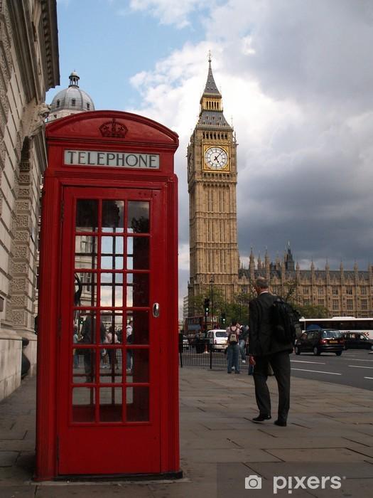 Vinilo Pixerstick Empresario london teléfono big ben - Temas