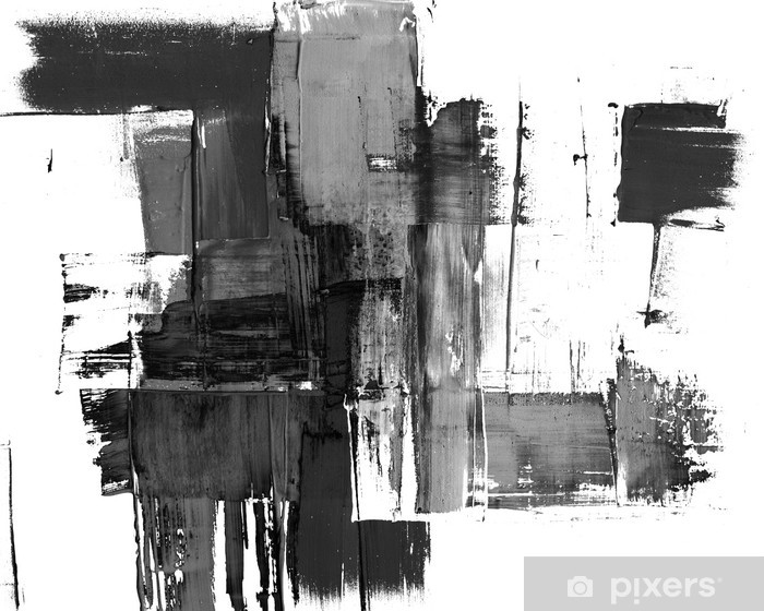 An abstract paint splatter frame in black and white Vinyl Wall Mural - Styles