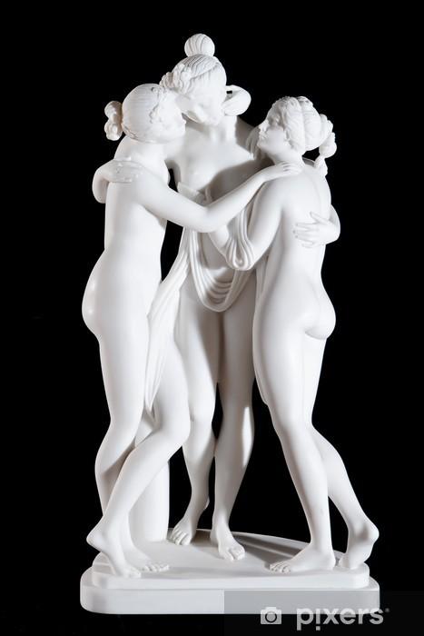 """Vinyl Fotobehang Wit marmeren standbeeld """"The Three Graces"""" van Antonio Canova - Openbare Gebouwen"""