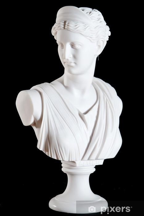 Fototapeta winylowa Klasyczne marmurowe popiersie biały Athena odizolowane na czarno - Budynki użyteczności publicznej