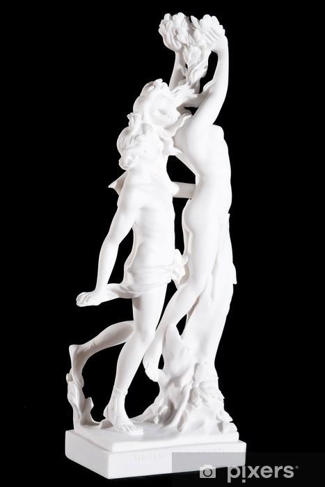 white marble statue Apollo and Daphne (Bernini) isolated Vinyl Wall Mural - Public Buildings