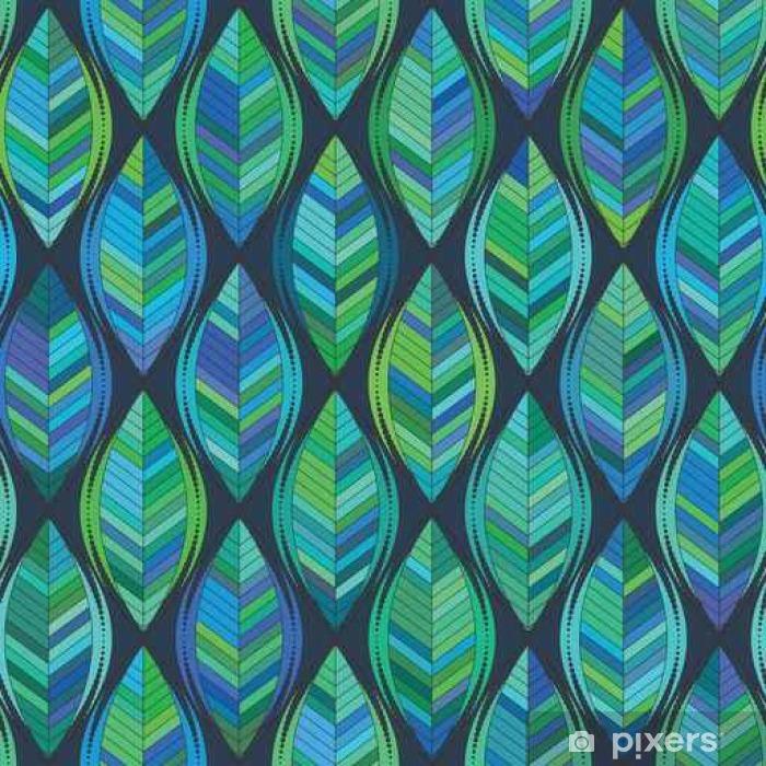 Nálepka Pixerstick Abstraktní pozadí zelených listů. vektoru vzor - Grafika