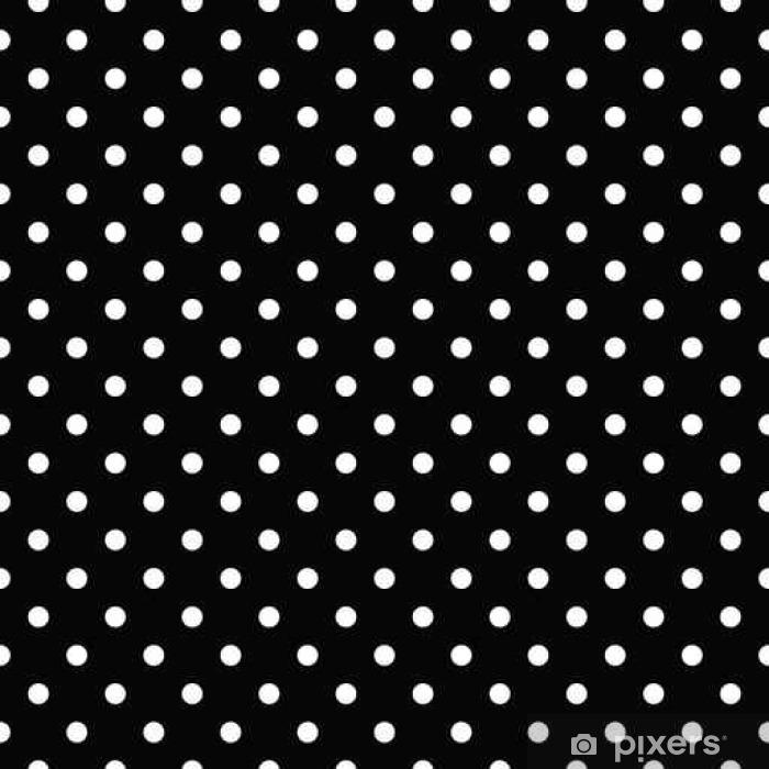 Çıkartması Pixerstick Polka dot seamless pattern - siyah-beyaz - Grafik kaynakları