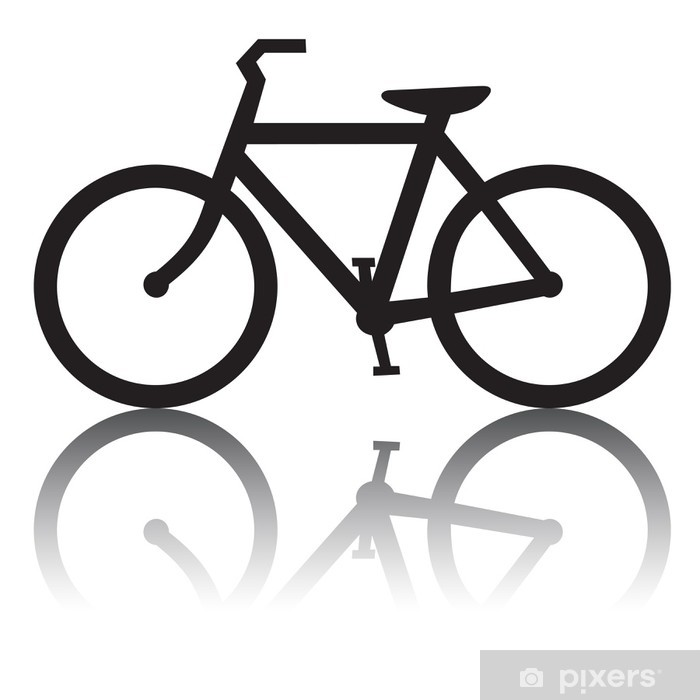 Aufkleber Fahrrad Mit Spiegelung Pixerstick