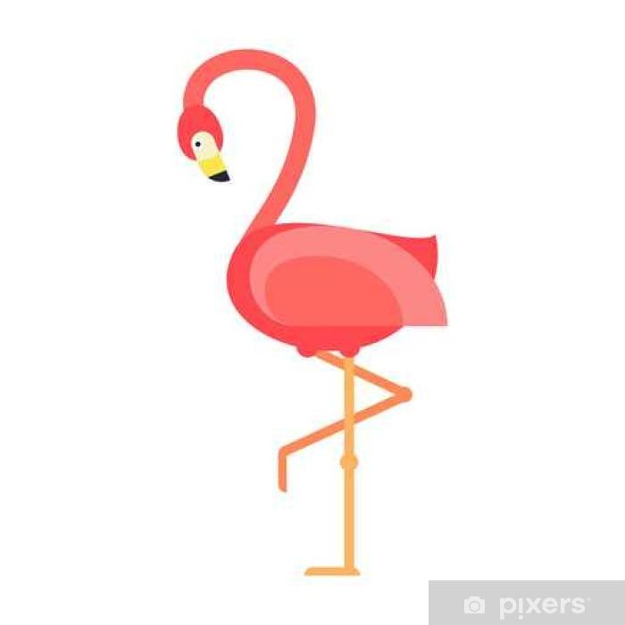 Plakat Chłodny różowy Flaming ilustracji wektorowych. - Zwierzęta