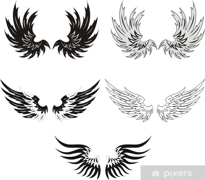 Sticker Pixerstick Collection des ailes grunges - Textures