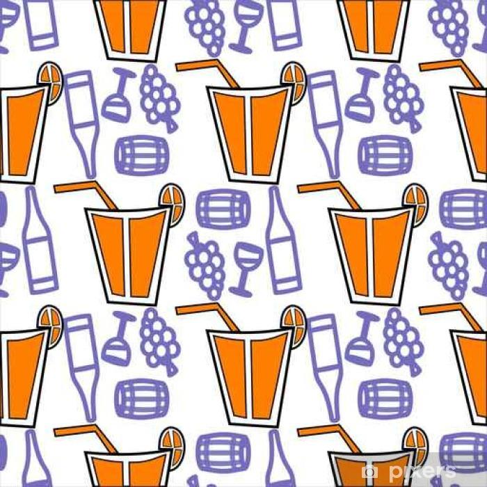 Fototapeta winylowa Jednolite wzór z napojami koktajlowymi - Zasoby graficzne