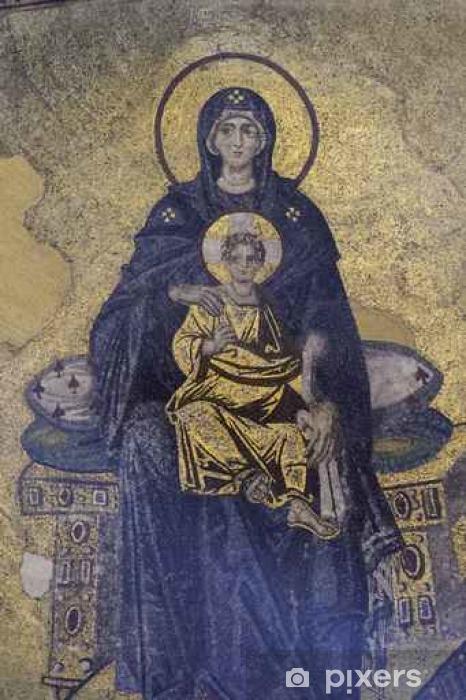 Vinyl Fotobehang Maagd Maria en Jezus - Religie en Cultuur