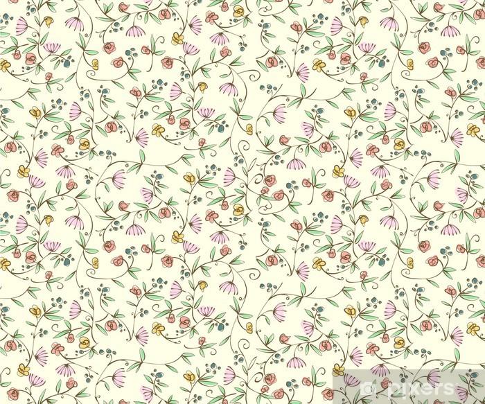 Çıkartması Pixerstick Klasik ditsy çiçek kesintisiz duvar kağıdı -
