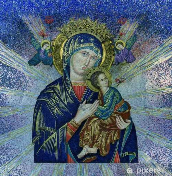 Vinyl-Fototapete Our Lady of Perpetual Help Fliesenmosaik - Religion und Kultur