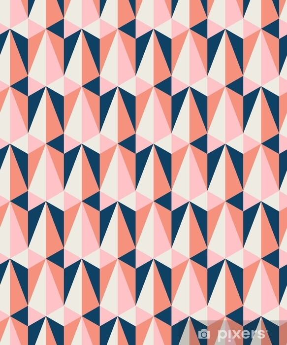 Pixerstick-klistremerke Sømløs retro mønster - Grafiske Ressurser
